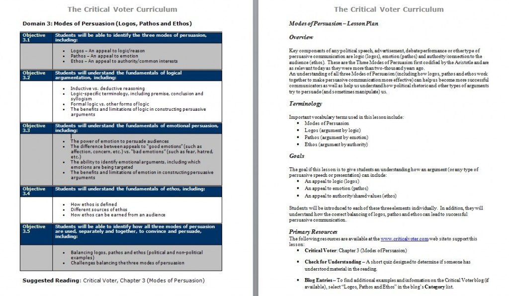 critical voter curriculum