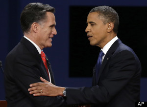 Romney and Obama at the Presidential debate